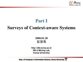 Part I Surveys of Context-aware Systems