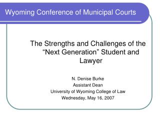 Wyoming Conference of Municipal Courts