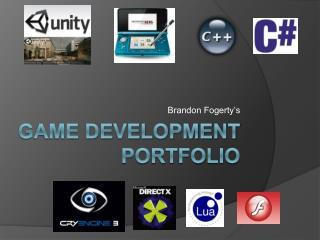 Game Development portfolio