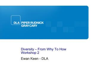 Diversity – From Why To How Workshop 2