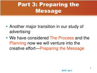 Part 3: Preparing the Message