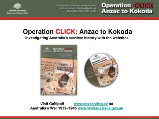 Operation  CLICK : Anzac to Kokoda