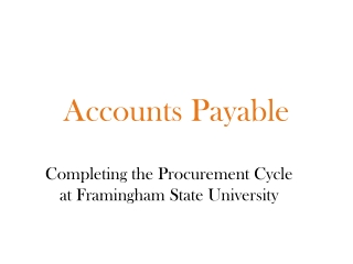 Accounts Payable    Processing Invoice Payments