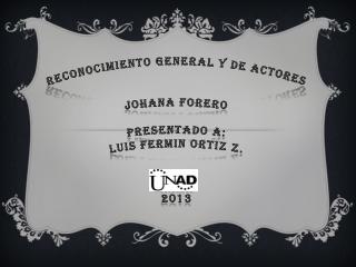 JOHANA FORERO_PRESENTACION EVALUACION DE PROYECTOS