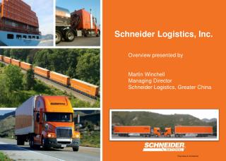 Schneider National, Inc. is a North American transportation leader with a broad portfolio of services