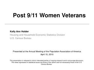 Post 9/11 Women Veterans