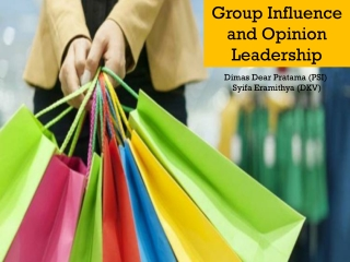 Group Influence and Opinion Leadership