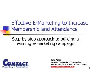 Effective E-Marketing to Increase Membership and Attendance