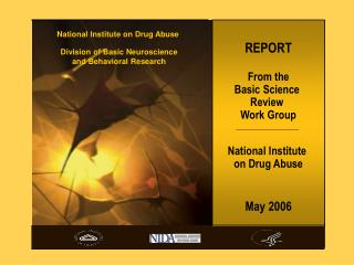 REPORT From the Basic Science  Review  Work Group National Institute  on Drug Abuse May 2006