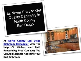 North County San Diego Bathroom Remodeler