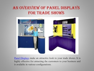 An Overview of Panel Displays for Trade Shows