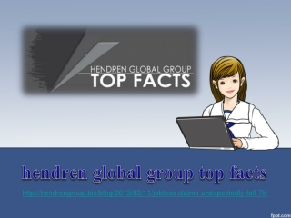 hendren global group top facts, Jobless Claims Unexpectedly