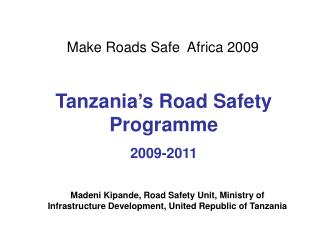 Make Roads Safe  Africa 2009
