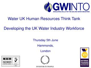 Water UK Human Resources Think Tank   Developing the UK Water Industry Workforce