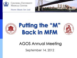 AGOS Annual Meeting  September 14, 2012