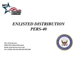 ENLISTED DISTRIBUTION PERS-40