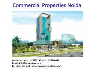 Commercial Properties Noida