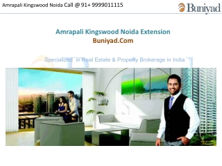 Amrapali Kingswood Noida - Call us @ 9999011115 - Buniyad