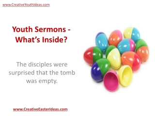 Youth Sermons - What's Inside?
