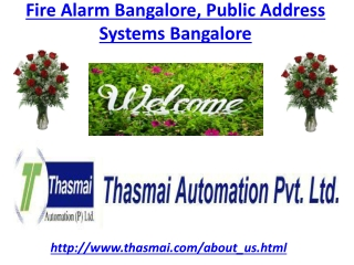 Fire  Alarm Bangalore, Public  Address  Systems  Bangalore