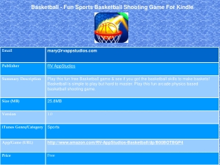 Basketball - Fun Sports Basketball Shooting Game For Kindle