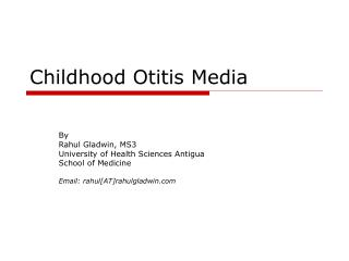 Childhood Otitis Media