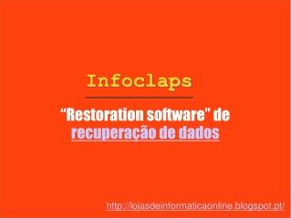 """""""Restoration software"""" de recuperação de dados"""