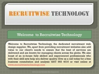 Recruitment Web Site Software and Website Design