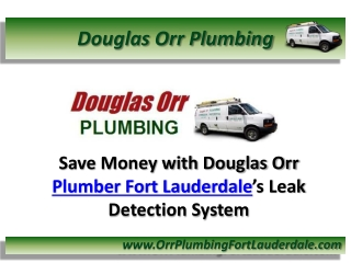Save Money with Douglas Orr Plumber Fort Lauderdale's Leak D