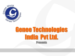 CHECK OUT Presentation of GENEE Technologies