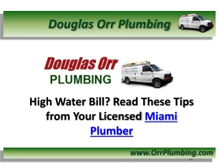 Licensed Miami Plumber in FL Shares Tips on Saving Money on