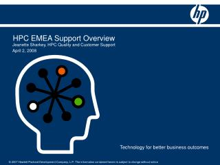 HPC EMEA Support Overview