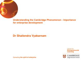 Understanding the Cambridge Phenomenon - Importance for enterprise development