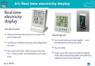 A1) Real time electricity display