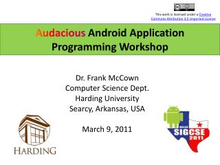 Audacious  Android Application Programming Workshop