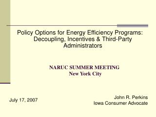 NARUC COMMITTEE ON ELECTRICITY: