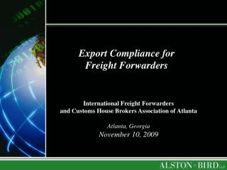 Export Compliance for Freight Forwarders