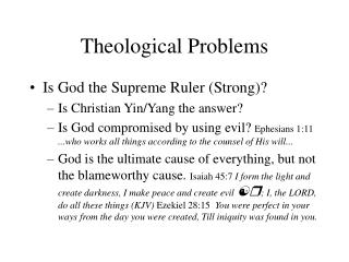 Theological Problems