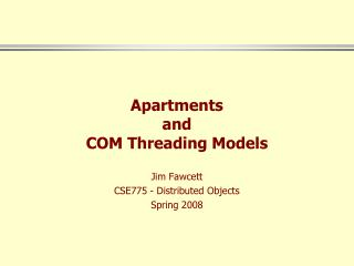 Apartments and COM Threading Models