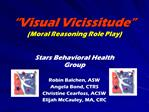 Visual Vicissitude  Moral Reasoning Role Play