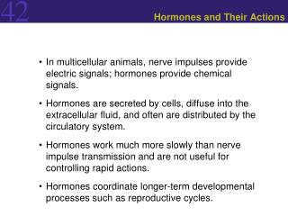 Hormones and Their Actions