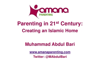 Islamic Perspective of Parenting