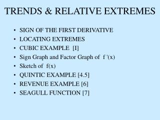 TRENDS & RELATIVE EXTREMES