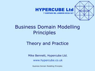 Business Domain Modelling Principles