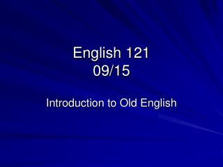 English 121 09/15