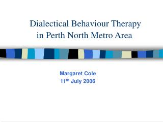 Dialectical Behaviour Therapy in Perth North Metro Area