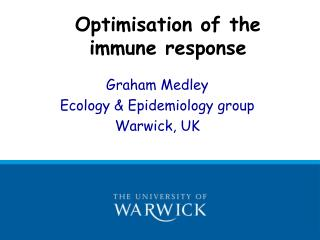 Optimisation of the immune response