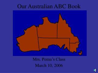 Our Australian ABC Book