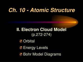 Ch. 10 - Atomic Structure