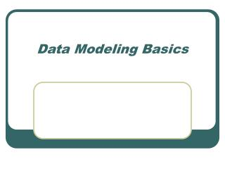 Data Modeling Basics